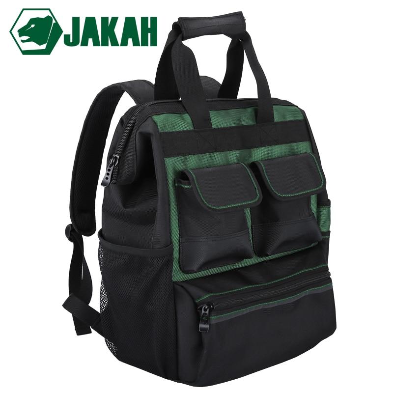 JAKAH Waterproof Tool Backpack With Handbag Tool Bag Tools Storage Bags Multifunction Bags Free Shipping
