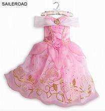 SAILEROAD 3-10Years Girl Dresses Vestido Children Princess Dresses Rapunzel Aurora Kids Party Costume Clothes For Girls Vestido