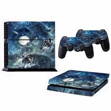EDFY-1set الذئب القمر لصقة جلد صناعي ملصقا ل PS4