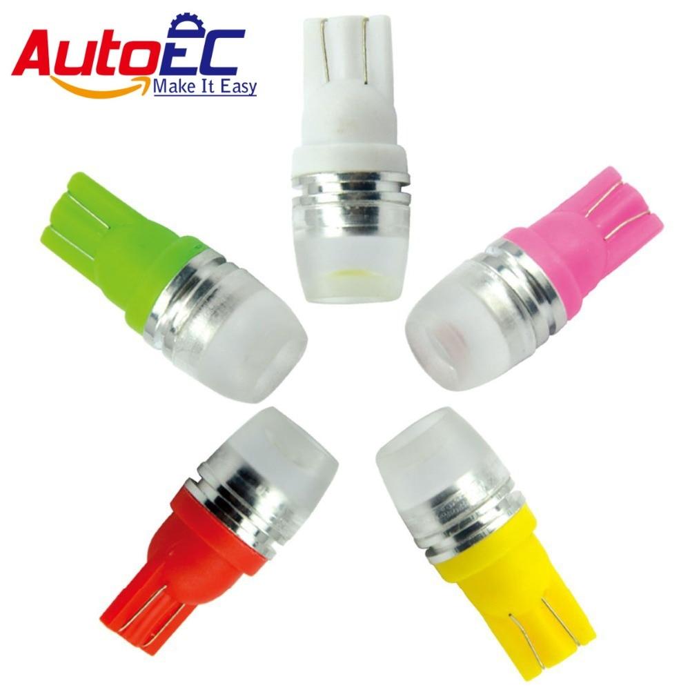 AutoEC 10X lámpara de coche T10 2smd 5630 194 smd 168 lente de led LED 1,5 W w5w 501 1 led 2525, 2652 de 2827 2886x blanco Azul Rojo # LB26