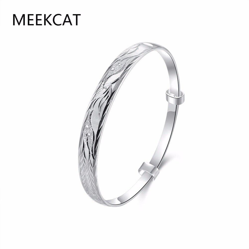 Chapado en plata de alta calidad y estampado 925 joyería Fénix círculo completo brazalete pulsera Pulseiras para mujeres Promoción de moda