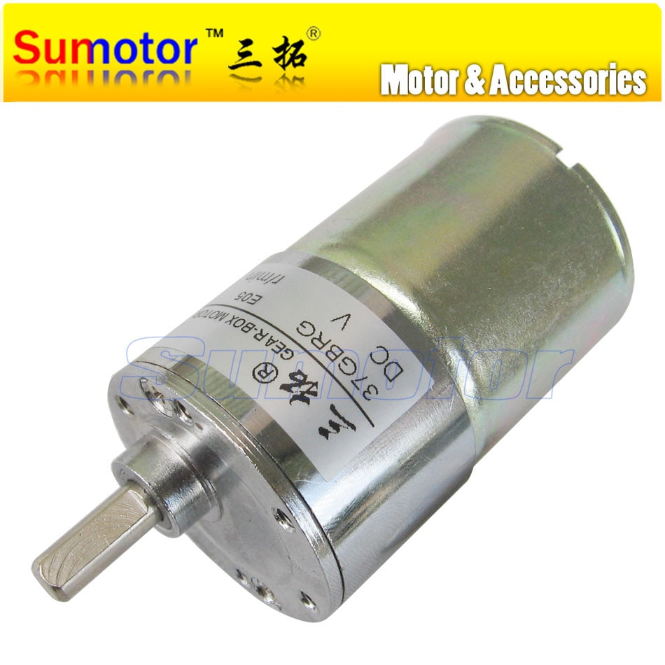 مخفض كهربائي 37GBRG ، تيار مستمر 12 فولت ، 24 فولت ، OD ، 37 مللي متر ، محرك تروس معدني ، DIY ، سيارة ذكية ، روبوت