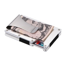 New Money Purse Metal Mini Money Wallet Clip Carbon Fiber Steel Credit Card ID Purse Holder With RFID Anti-Thief Wallet Holder