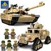 KAZI nuovo tema Tank Building Blocks 1463pcs Building Blocks M1A2 ABRAMS MBT KY10000 1 Change 2 Toy Tank modelli giocattoli per bambini
