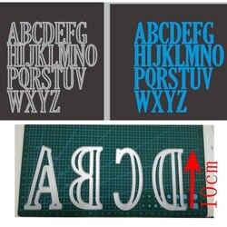 10cm 4 polegadas grandes alfabetos a a z conjunto inteiro de corte metal dados estêncil scrapbook álbum gravação para cartão de presente que faz