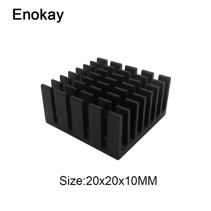 Enok 50 peças lote 20x20x10mm chipset ram dissipador de calor de refrigeração