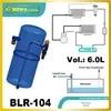6.0L efrigerant líquido tanque receptor com conexão rotalock válvulas são instaladas no refrigerador de água substituir carly receptores