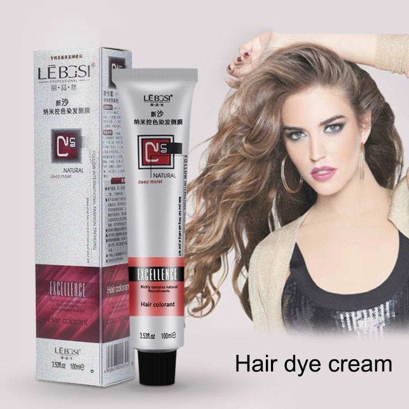 1 Pcs Hair Tint Colorant Semi Permanent Long Lasing Hair Cream Color Dye Paint KG66