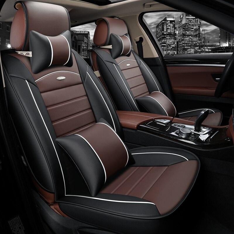 WLMWL uniwersalny skórzany pokrowiec na siedzenia samochodowe dla BYD wszystkie modele FO F3 SURUI SIRUI F6 G3 M6 L3 G5 G6 S6 S7 E6 E5 samochód stylizacji fotelik samochodowy