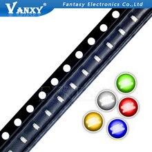 100 pièces 0603 SMD LED diodes lumière jaune rouge vert bleu blanc offre spéciale