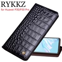rykkz genuine leather flip case for huawei p30 cover magnetic case for huawei p30 pro cases leather cover phone cases fundas