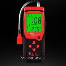 Analyseur de gaz électrique détecteur de gaz Combustible Port détecteur de fuite de gaz naturel inflammable testeur système dalarme de lumière sonore TA8406