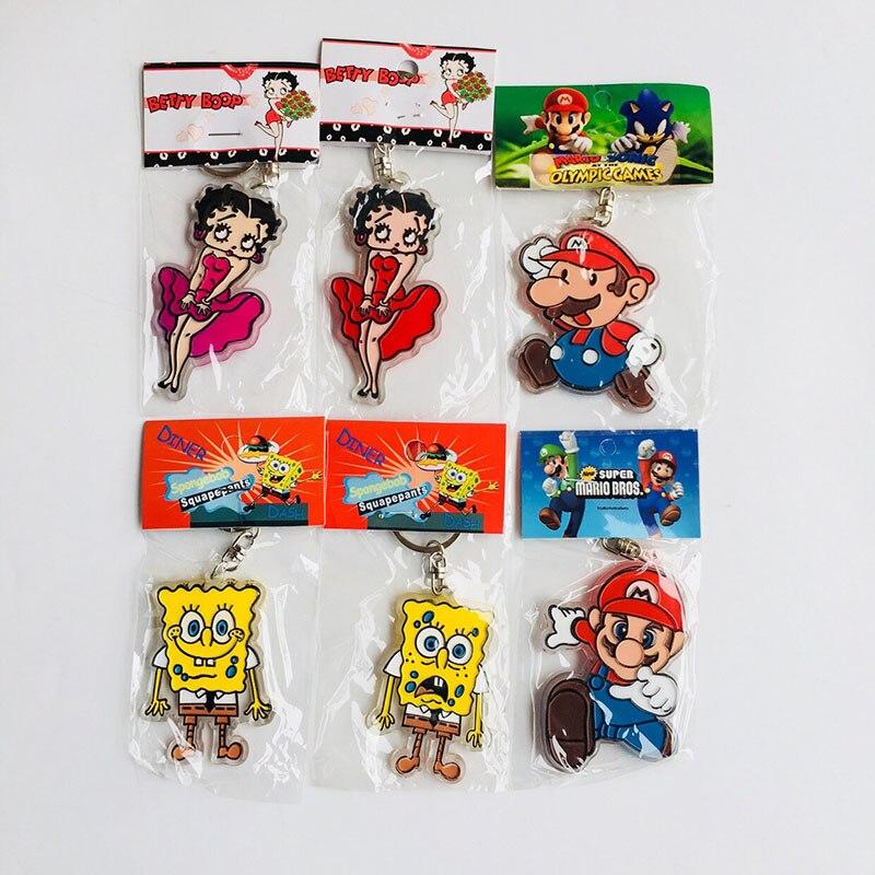 IVYYE Betty Super Mario llavero acrílico de dibujos animados, llavero colgante para coche, juguetes, llavero Unisex, regalo nuevo