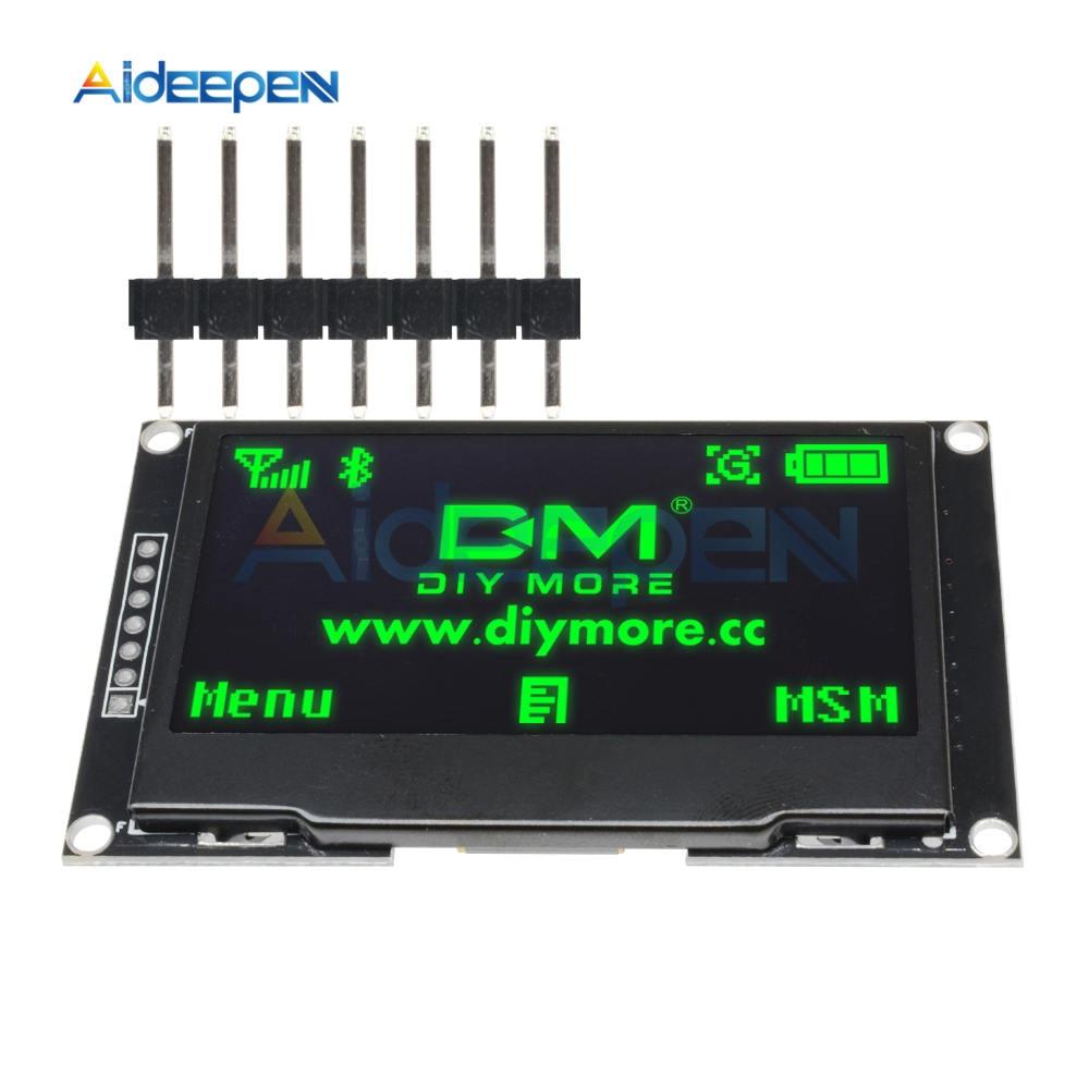2,42 pulgadas 128x64 128*64 Módulo de pantalla OLED IIC I2C SPI Serial verde LCD pantalla para C51 STM32 SSD1309 para Arduino