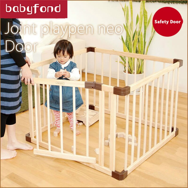 Brand Baby Game Fence Crawl Guardrail Safe Hurdles Baby Real Wood Solid Play Fence Baby Playpen Game Guard Panel  Wood Fence enlarge