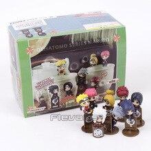 NARUTO Ochatomo Serie Sasuke Kakashi Jiraiya Gaara Itachi Sasori Deidara Naruto PVC Figures Collectible Model Toys 8 stks/set
