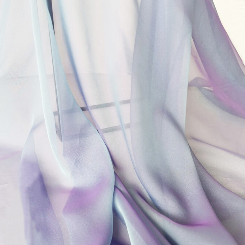2 tonos gasa suave baile boda tela de vestido de gasa ligero 30d