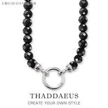 Colar facetado grânulos 2017 nova marca ts strand prata moda jóias thomas estilo glam bijoux presente para mulher amigo