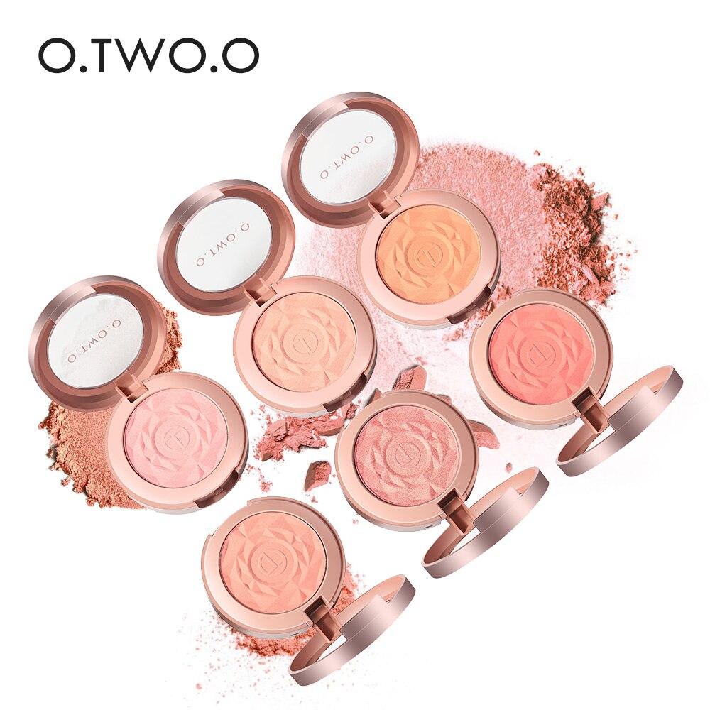 O. TW O.O colorete facial en polvo maquillaje rojo paleta de mejillas de larga duración minerales colorete paleta de pinceles crema Natural Blush Maquiagem