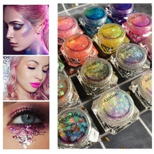 Eye Glitter Nail Hair Body Face Glitter Gel Art Flash Heart Loose Sequins Cream Festival Glitter Dec