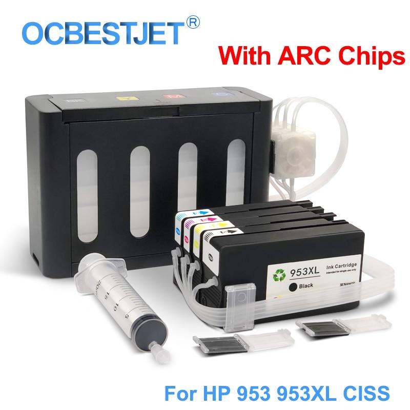 نظام إمداد الحبر المستمر لـ HP Officejet Pro ، لـ HP 953XL ، 953 XL ، لـ HP Officejet Pro 7740 ، 8210 ، 8710 ، 8715 ، 8720 ، 8725 ، 8730 ، 8740 ، ، 4 ألوان/مجموعة