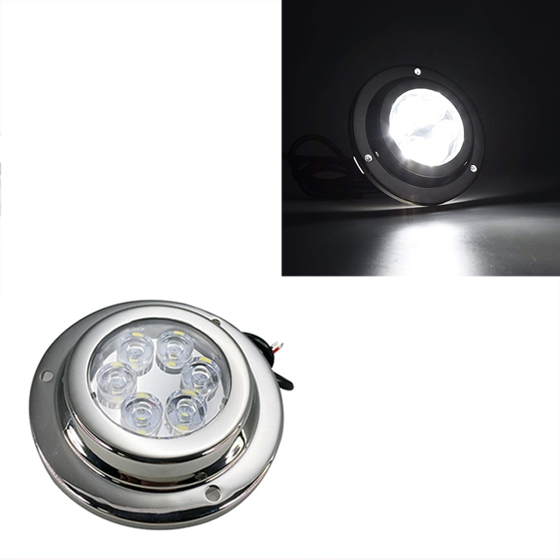 1Pcs 18W LED Underwater Light 12V IP 68 Stainless Steel Marine Yacht Boat Lamp Blue White