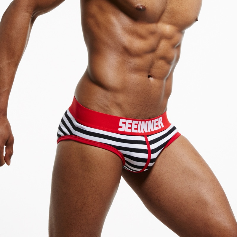 20 Styles SEEINNER Men Underwear briefs Cotton Striped Sexy men briefs slips cueca masculina Male pa