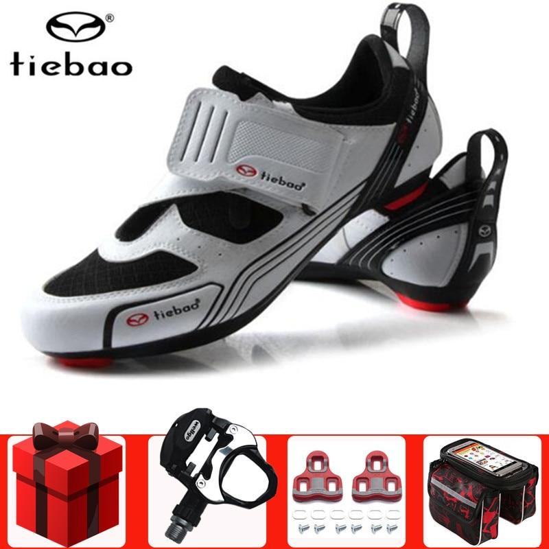 Tiebao hombres Zapatos de ciclismo de carretera agregar pedal set bicicleta Zapatos antideslizantes mujeres triatlón Deporte Zapatos