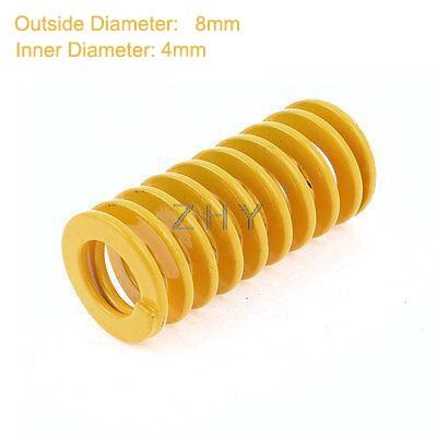 Tf 8mm od 4mm id 50mm 55mm 60mm 65mm 70mm comprimento amarelo luz carga 65mn espiral metal que carimba o molde da compressão morre mola