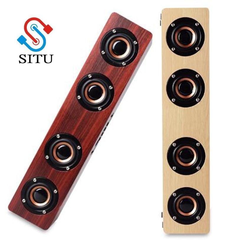 Home Theatre HiFi Wooden Wireless Bluetooth Speaker Subwoofer Combination Speaker System Bass Music Center Sound bar for TV PC