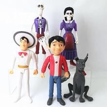 5 pièces Coco Miguel Riveras Ekotto Ernesto Cruz Contrôle Led Figurines Batterie Action & Figurines Pvc Modèle Collection