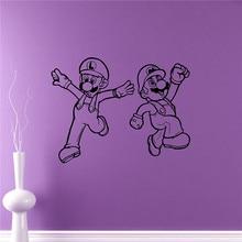Super Mario Wall Sticker Video Game Hero Vinyl Sticker Retro Games Home Interior Removable Wall Murals Housewares #M121
