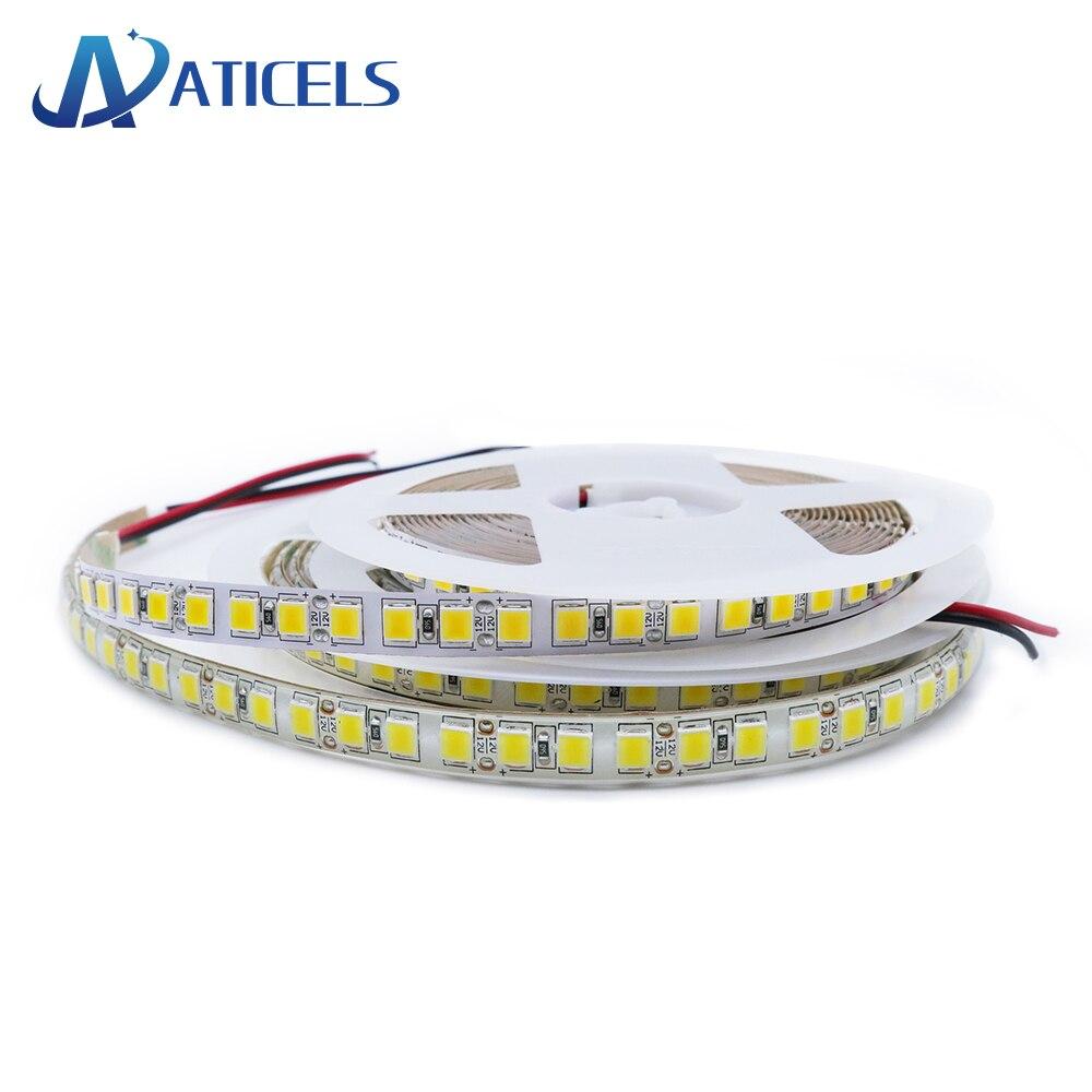 Tira de LED DC12V 5054 120LEDs/m 5M blanco frío/blanco cálido alto brillo tira de luz LED Flexible 5050 RGB IP20 / IP65