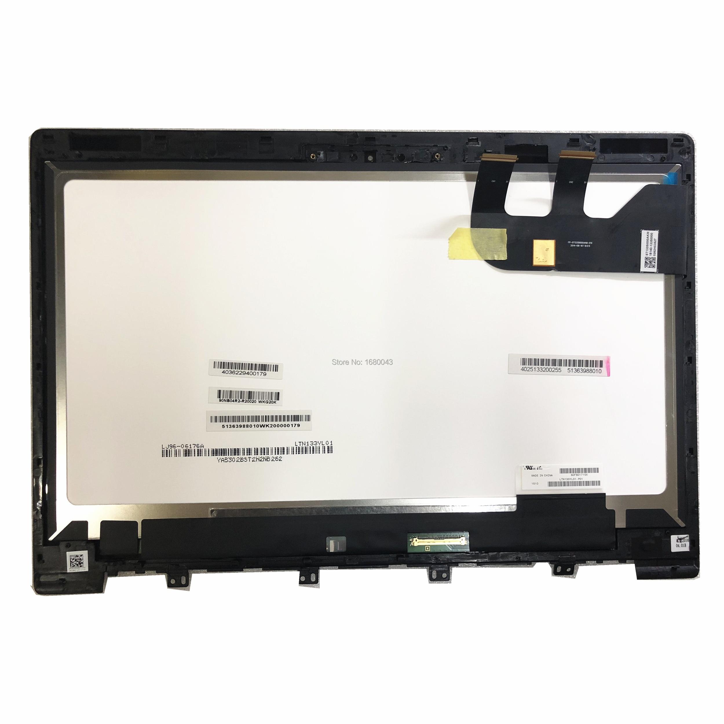 LTN133YL01 P01 pantalla LCD digitalizador de pantalla táctil marco de montaje FP-ST133SI000AKM-01X...