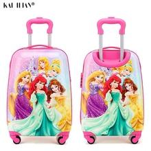 19 pouces bagage à main Valise À Roulettes enfants Spinner bagages carton voyage bagages Chariot Sacs valise enfant lovell