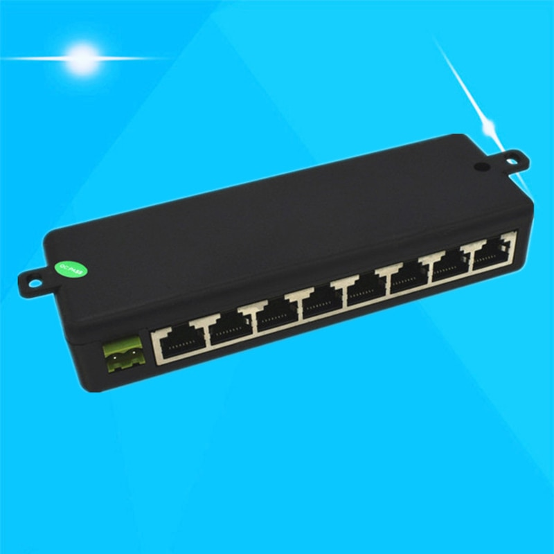 Hot Sale 8 Ports POE Injector Splitter for CCTV Networks Camera Power Over Ethernet enlarge