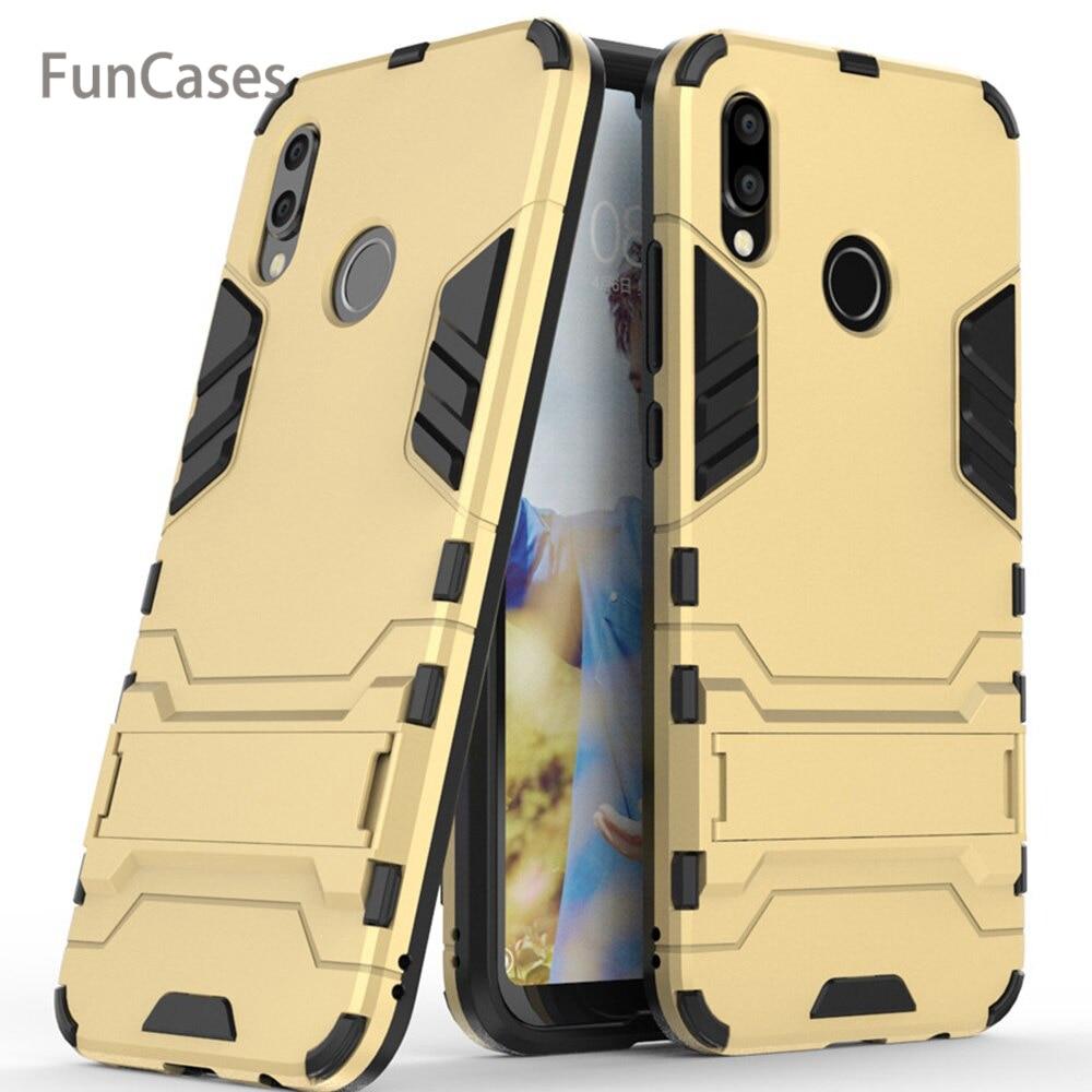 Para Huawei Nova 3 3i 3e funda cubierta de lujo Iron Man Stand carcasa dura armadura + silicona suave TPU cubierta para Huawei Nova 3e Huawei