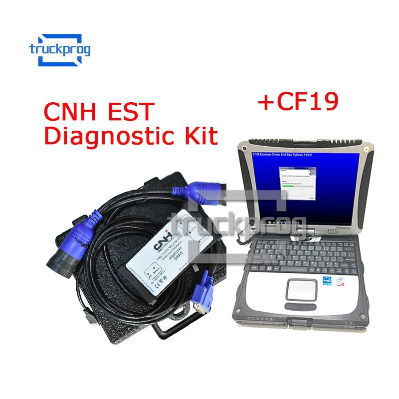 for CNH EST DPA5 Diagnostic Kit New Holland CASE Diagnostic Tool+CF19 laptop V9.3 Engineering Level CNH TRACTOR Truck Diagnostic