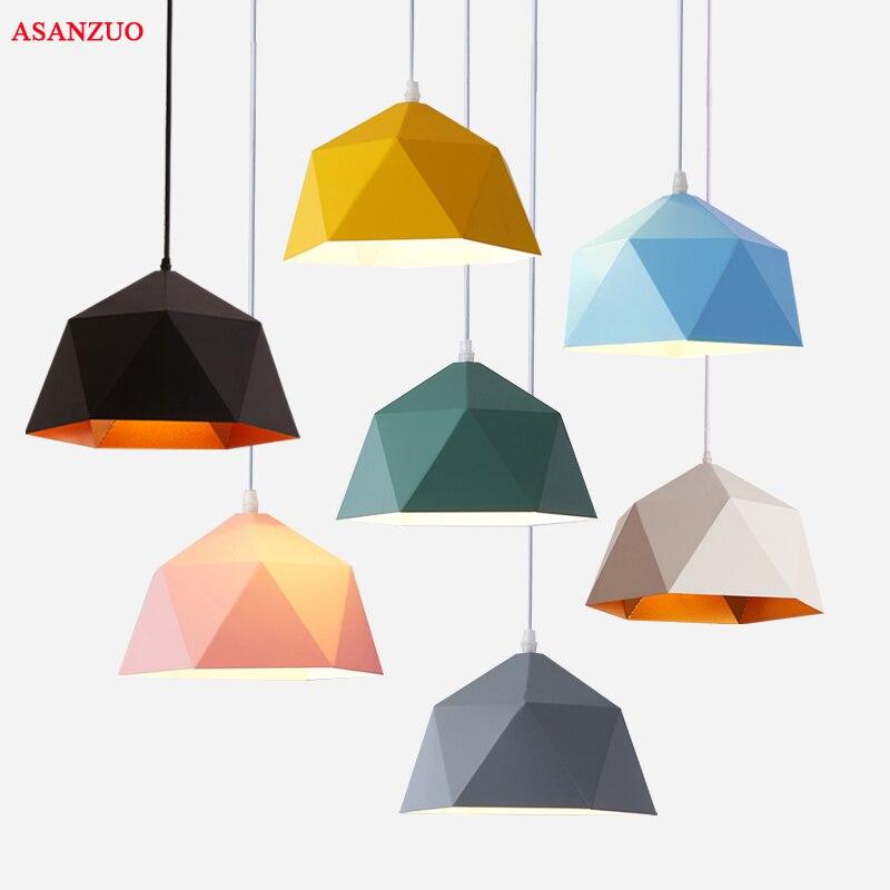 مصابيح معلقة مصنوعة من الحديد متعدد الألوان ، تصميم صناعي ، إضاءة داخلية مزخرفة ، مثالية للدور العلوي أو غرفة المعيشة أو المطبخ ، E27