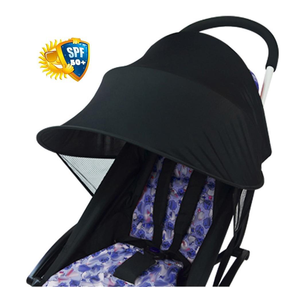 Cubierta Anti-UV para Cochecitos de bebé, sombrilla de protección solar a prueba de viento, resguardo de toldo, accesorios universales para coches de bebé