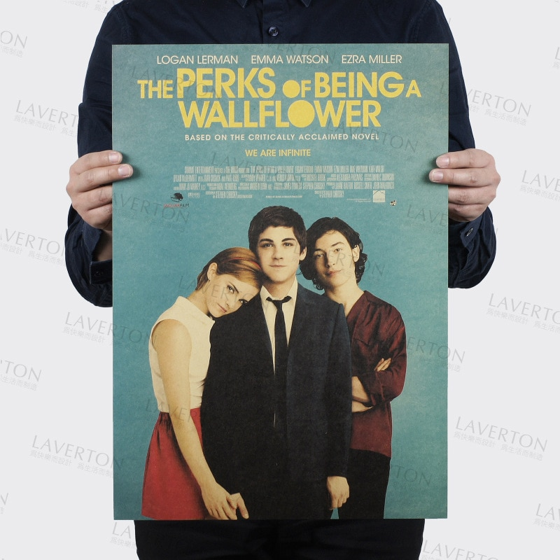 The Perks of Being a Wallflow/película clásica/papel kraft/café/póster para bar/póster Retro/pintura decorativa 51x35,5 cm alta calidad
