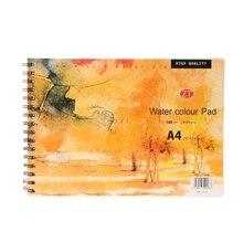 A4 aquarelle papier Art artiste carnet de croquis carnet de croquis dessin peinture 24 feuilles arts & artisanat fournitures pour les enfants