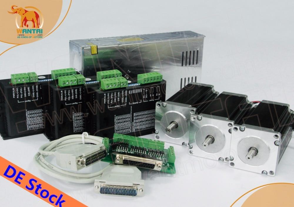[EUFree y sin impuestos] Motor paso a paso Nema23 de 3 ejes Wantai WT57STH115-4204B eje Dual 428oz-in + controlador DQ542MA 4.2A Kit de grabado Plasma