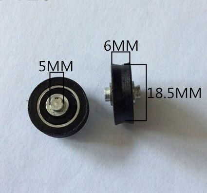 Diámetro polea de plástico cubierta de 20mm Tipo V, correa transportadora, rueda, ventanas silenciosas, polea de rodamiento
