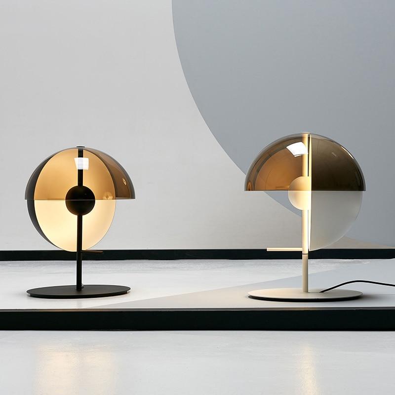 Lámparas modernas, lámpara de mesa para dormitorio, cabecera de cama, diseño giratorio creativo de moda, lámpara de pie de vidrio, lámpara de mesa para sala de estar y estudio