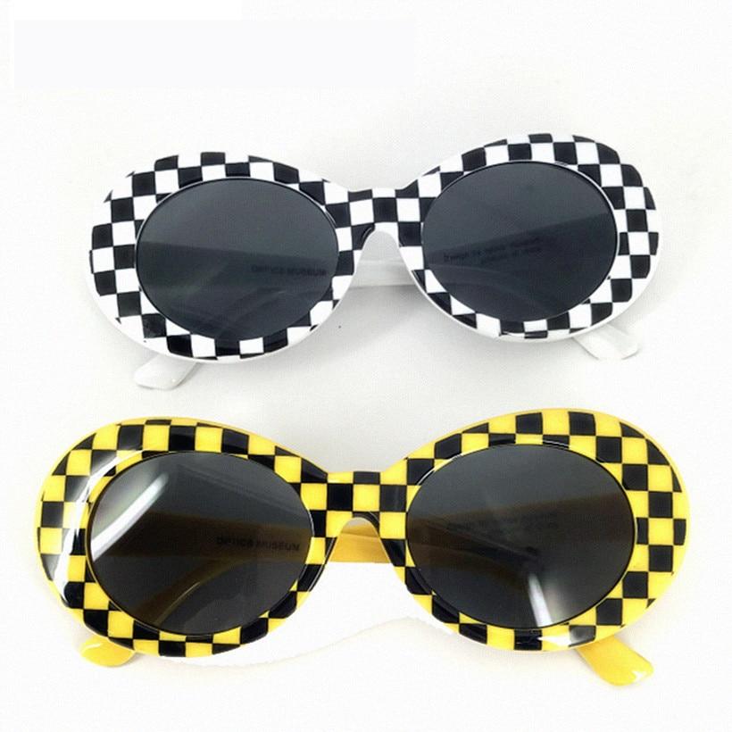 Gafas de sol NYWOOH, gafas Kurt Cobain, gafas de sol ovaladas para hombre, gafas Vintage para mujer