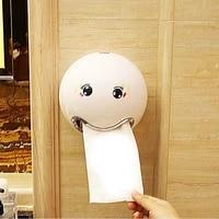 Emoticon     boite a mouchoirs en plastique ABS  une variete de couleurs  rouleau creatif pour salle de bain hotel