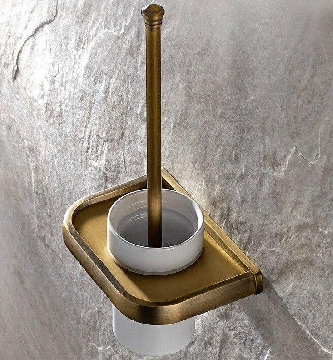 الحائط خمر الرجعية صنبور حمام من الطراز العريق المرحاض فرشاة مجموعة حامل الحمام التبعي واحد كوب سيراميك mba176