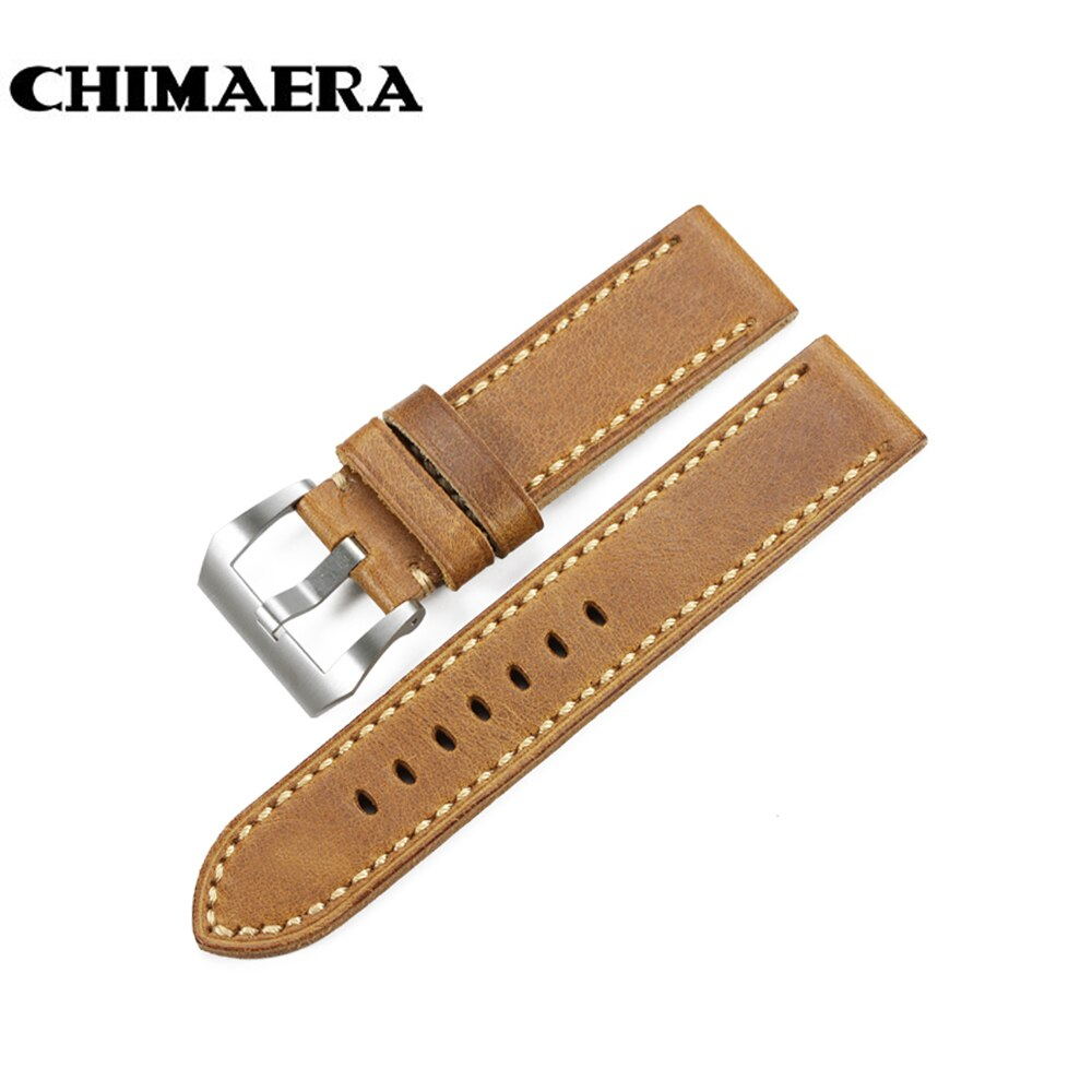 CHIMAERA marrón Assolutamente Italia Reloj de piel vintage pulsera correa de reloj de pulsera Accessor 20mm correa de reloj