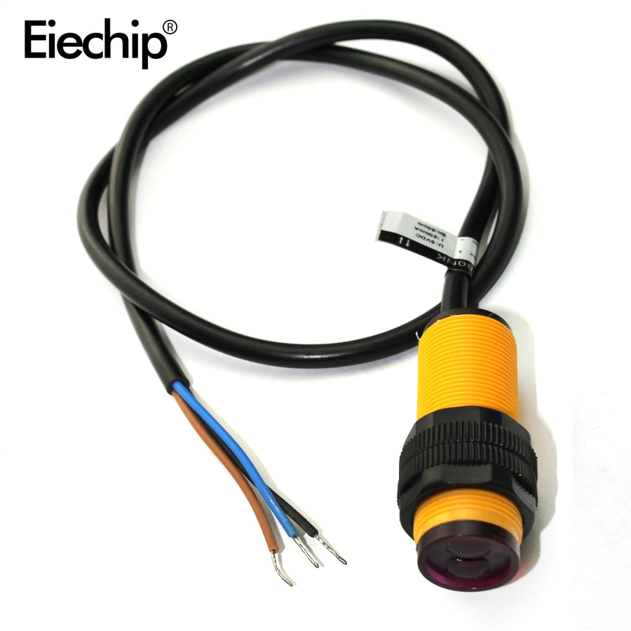 1 Uds E18-D80NK ajustable interruptor con sensor infrarrojo 3-80cm for_Arduino interruptor con sensor infrarrojo